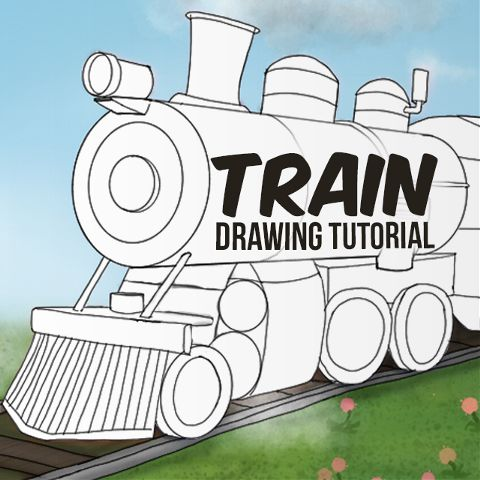 how to draw a train with PicsArt