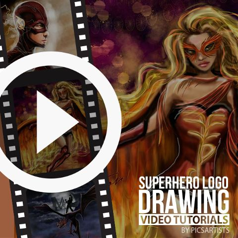 how to draw a superhero logo time-lapse video