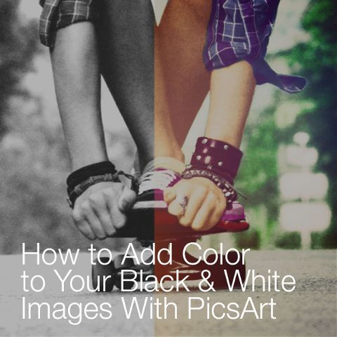 how to add color to a black and white photo