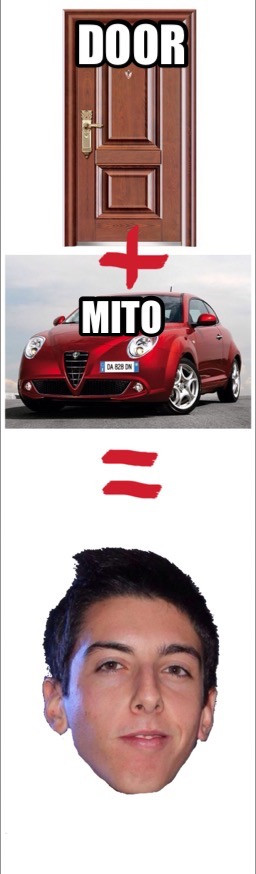 door+mito=dormito -> the shitter man