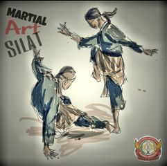 drawing pencaksilat martialart traditional culture