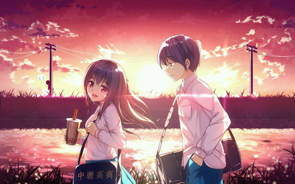 Anime Girl Boy Cute Couple Color Image By Yui Chan