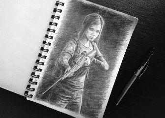 drawing art pencil blackandwhite ellie