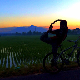 sunrise nature yoga yogapose