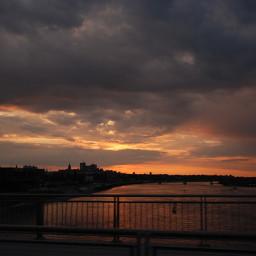 poland most sun clouds light