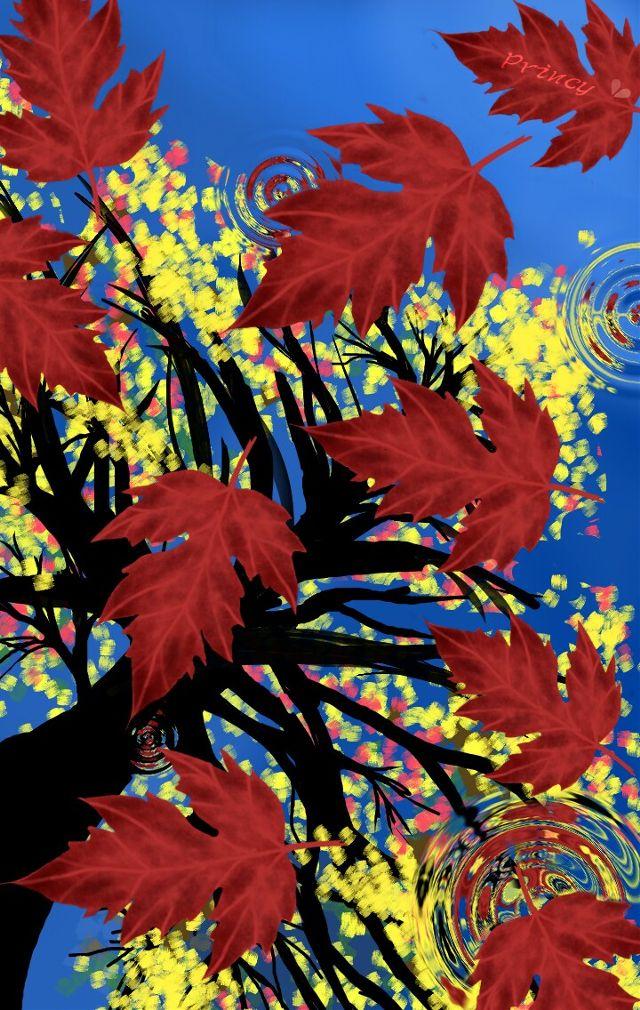 leaf drawing digital art
