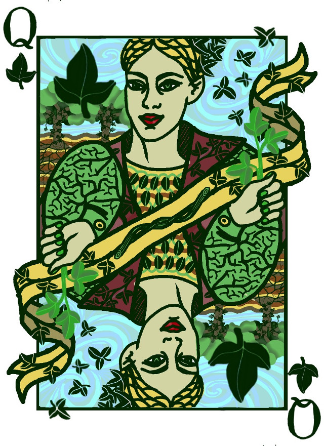 The Ivy Queen...so I named this Lady of the Leaves #dcleaf ...just a little graphic work of mine on the theme of Cards...I'm a player and I like the idea that cards with their game of destiny reminds me some aspects of real life #cards