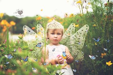 baby flower nature butterflies fantasy