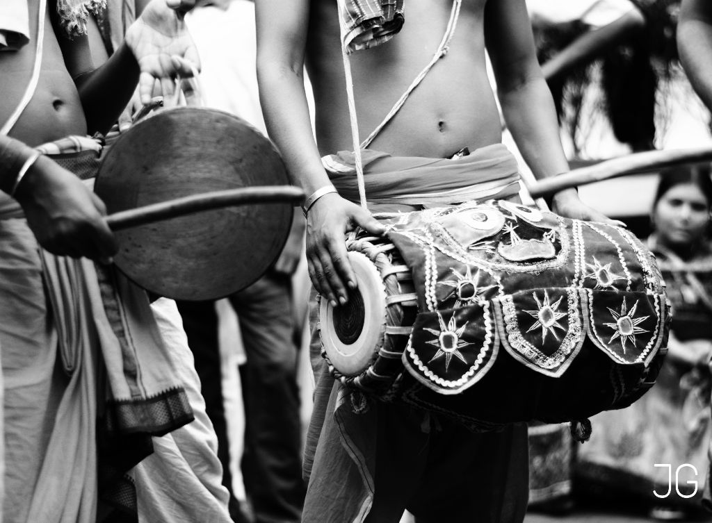 "The ""Dholak"" drum and the street band  #blackandwhite  #drums"