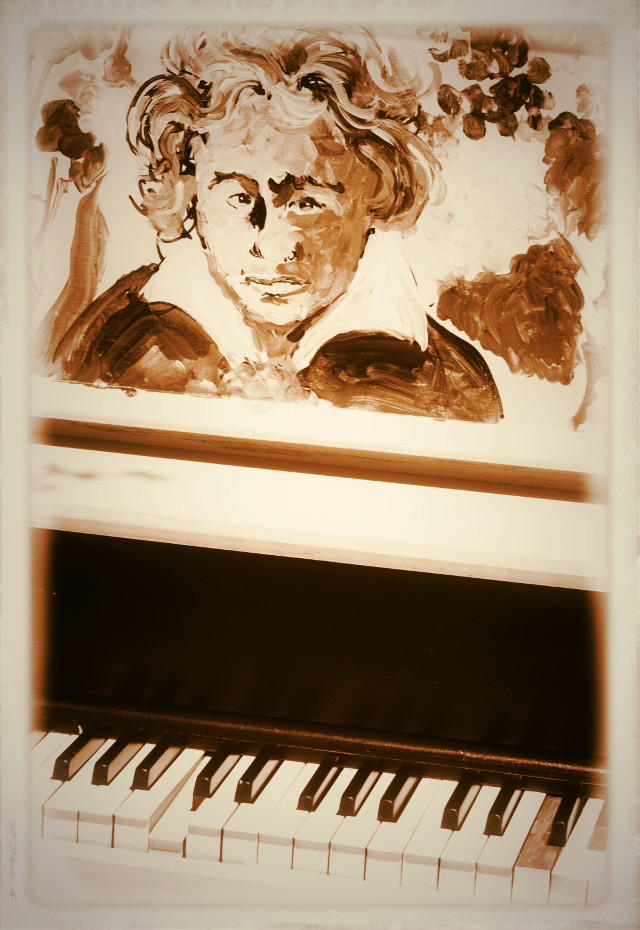 Tickled Ivories  #piano  #popart  #music  #vignette #classical #fun #instrument  #sepia  #photography #artistic