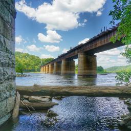 bridge railroad harpersferry potomac river