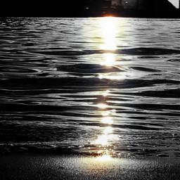blackandwhite merginglines colorsplash stark sea