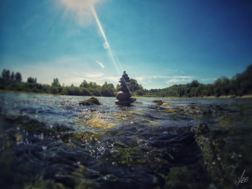 #when i have five minutes #sculpture #stones # river #kayak #summer #goprohero4 #2015