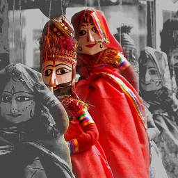 puppet still photography red colorful