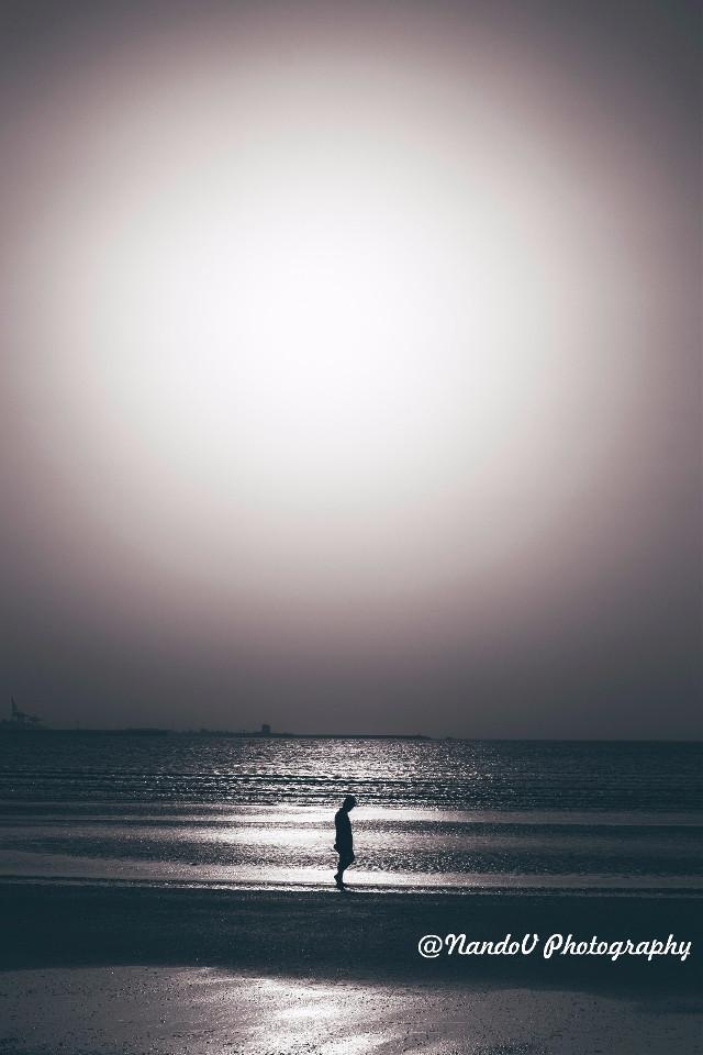 Men walking at the beach