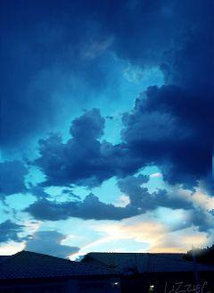 blue eveningsky