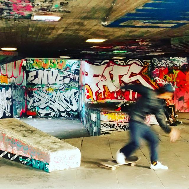 #Skateboarding #urban #sreetart #colorful  #action #southbank