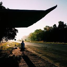 morning sunrise sun busstation