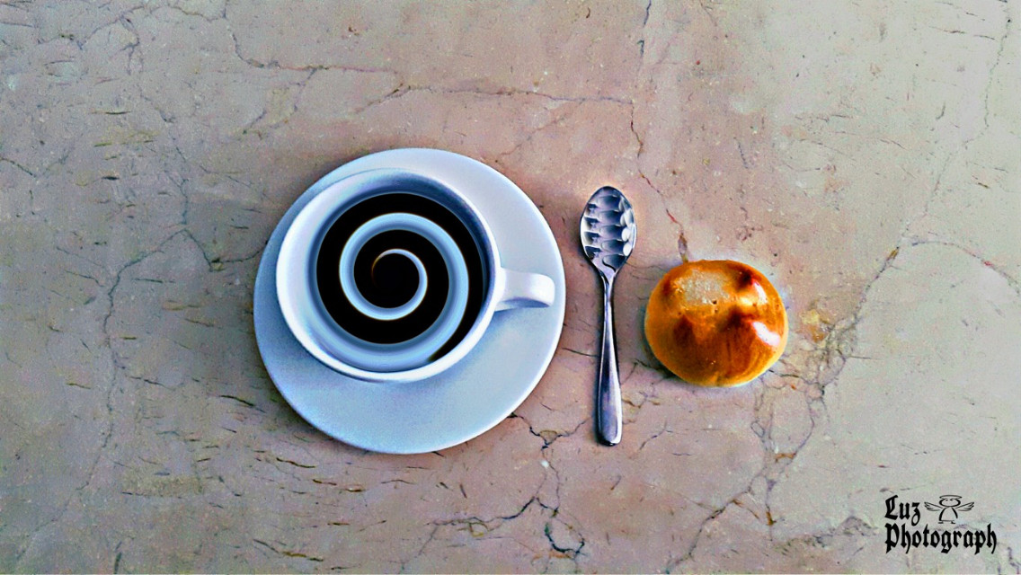 Part of my Breakfast...  Yeah I'm hiding the rest of it... 😊  Have a wonderful day Picsart Friends... ☺ #distored #stilllife #food