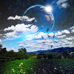 colorful nature fantasy mystic dreamscape